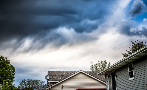 storm over homes